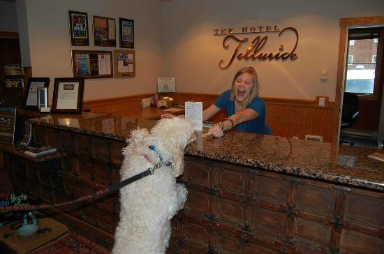 The Hotel Telluride: Great dog treats!!