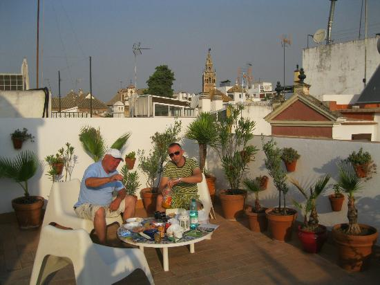 roof terrace picture of hotel un patio en santa seville tripadvisor