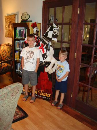 Country Inn &amp; Suites Schaumburg: The boy&#39;s in the lobby
