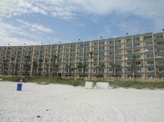 Hotel From The Beach Picture Of Days Inn Panama City Beach Ocean Front Panama City Beach