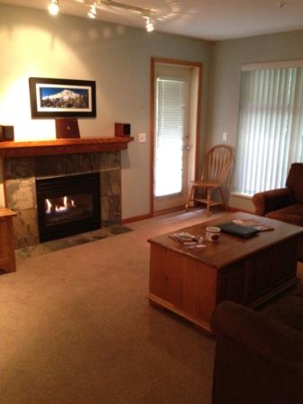 Northstar at Stoney Creek: lounge room with gas fire