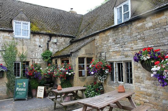 The Plough Inn at Ford: View from courtyard
