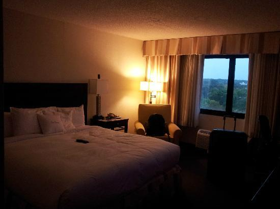 DoubleTree by Hilton Hotel Chicago - Schaumburg: Doubletree room, large bed, clean and comfortable...Could do with a bit of modernsation