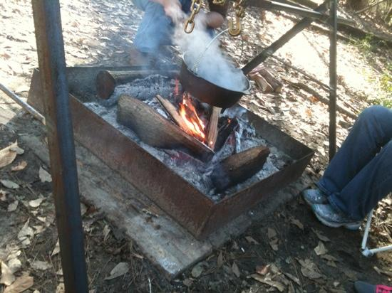 McComb, MS: campfire cooking