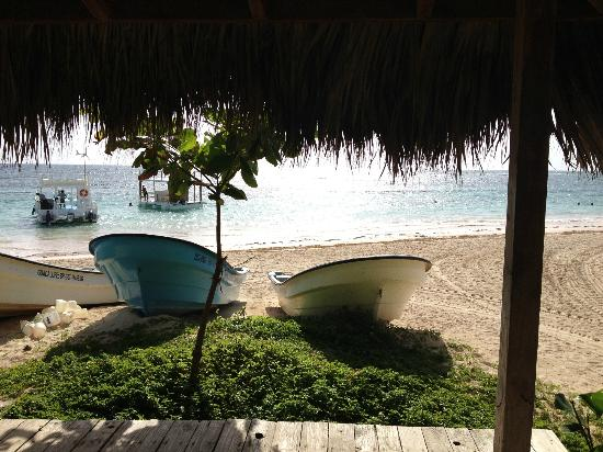 VIK Hotel Cayena Beach: The view from the water sports area.