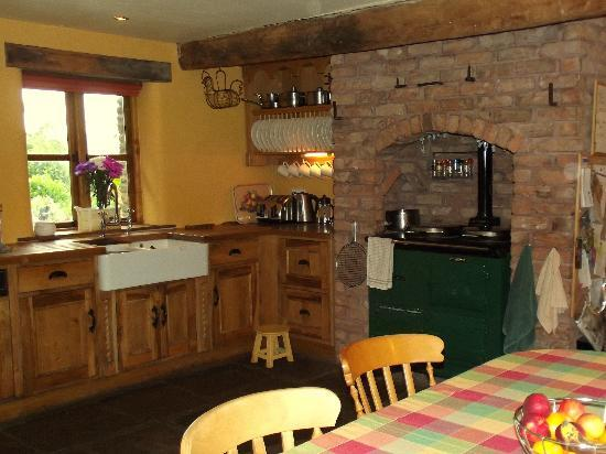 Llanhennock, UK: farmhouse kitchen