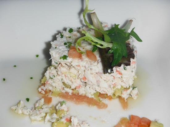 Pink Beach Club &amp; Cottages: appetizer Crab Tian