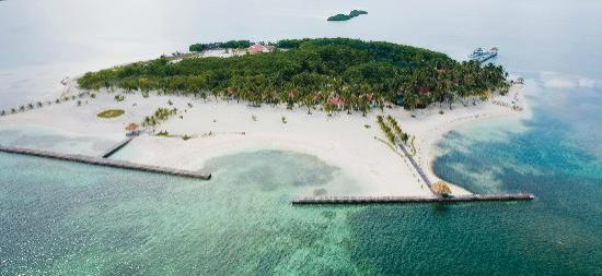 Turneffe Island Resort: Island Aerial