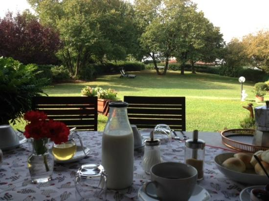 Bed and Breakfast Villa Beatrice: vue du jardin depuis le patio