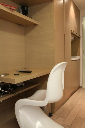 The Burlington Hotels Limited: Computer table - to the right are kitchen & bathroom