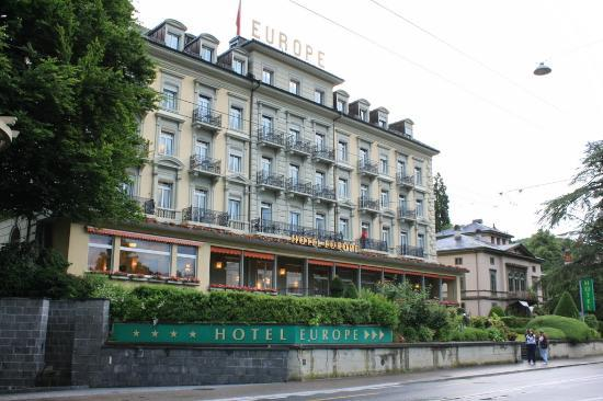hotel outlook - Picture of Grand Hotel Europe, Lucerne ...