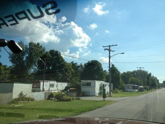Portage, IN: this is the mobile home park on the way in to camp