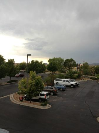 Inn At Santa Fe: stormy view from room #340