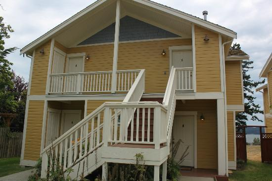 Inn at Ship Bay: Exterior of one of the room buildings (4 units per building)