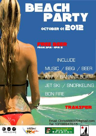 Sanya Backpackers: 2012 Beach Party