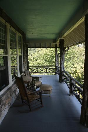 Laurel Lodge: The back porch