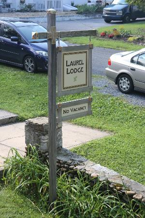 In front of Laurel Lodge