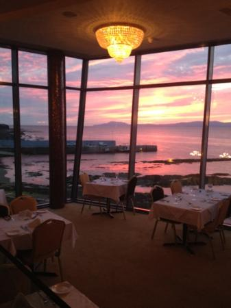 sunset at The Peak Restaurant Bundoran