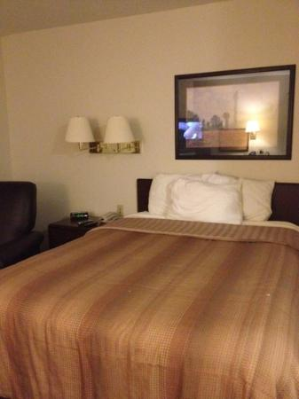 Hawthorn Suites by Wyndham Hartford Meriden: queen sized bed suite