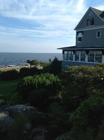 Cape Arundel Inn: View toward Inn Diningroom (all windows) from room
