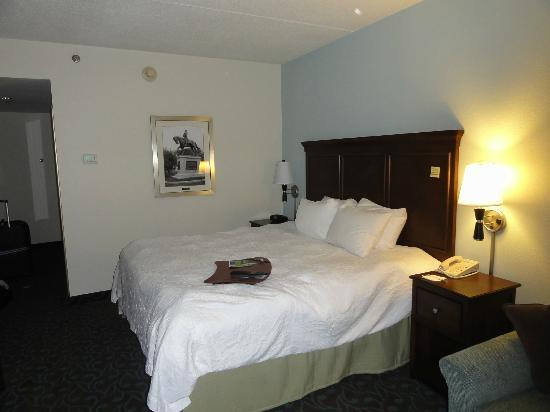 Hampton Inn Portsmouth: The bedroom