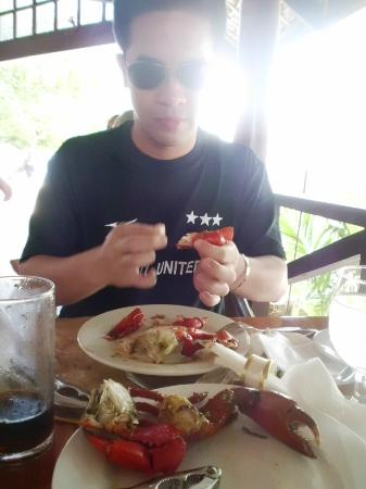 Club Paradise Palawan: Crabs served for lunch and dinner