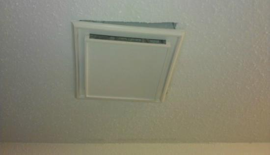 Comfort Inn: Bathroom ceiling vent in room 408. 8/24/2012