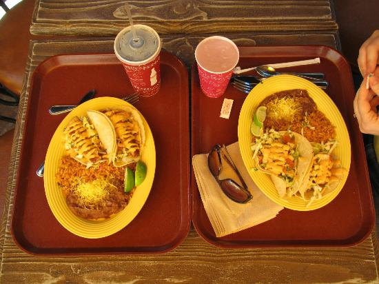 Fish tacos - delish! - Picture of Rancho del Zocalo - Disneyland ...