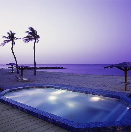 Nisbet Plantation Beach Club: Jacuzzi - on the beach, beside the pool