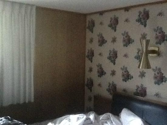 Melody Motor Lodge: paneling and wallpaper