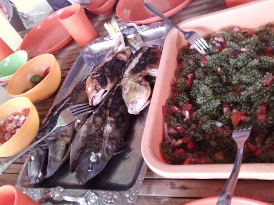 Coron Village Lodge: food served during island hopping