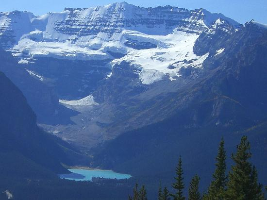Close Up View Of Lake Louise From Gondola Viewing Area