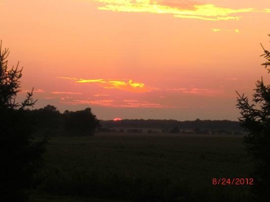 Grannys Farm Bed & Breakfast: Country Sunset off the back deck