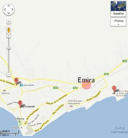 Hotel Emira : Location of the Emira