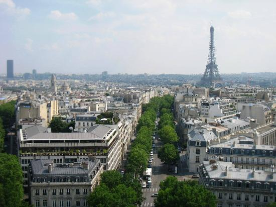 View From The Top Picture Of Arc De Triomphe Paris