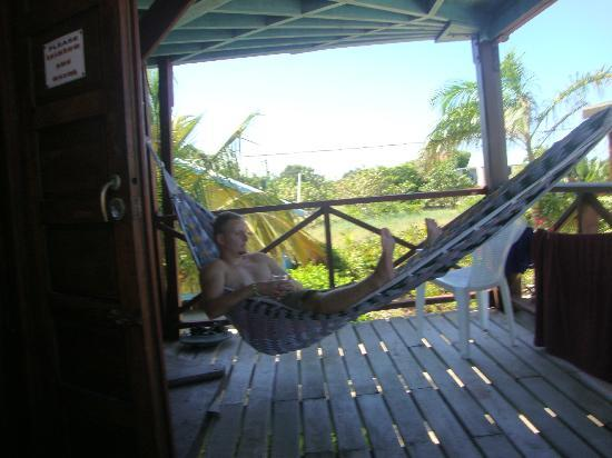 Colibri House: Relaxing from a hammock