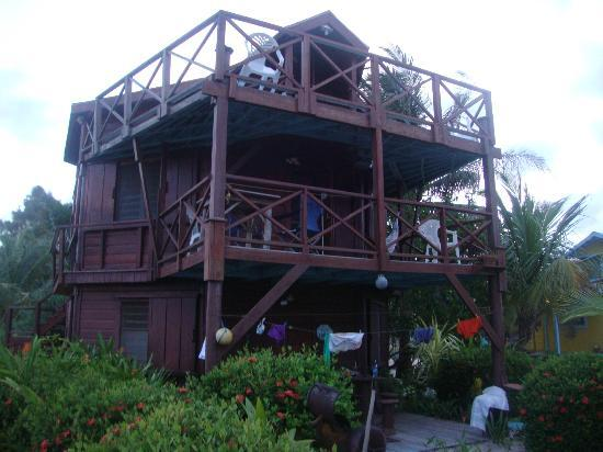 Colibri House balcony from the view of the sand path below