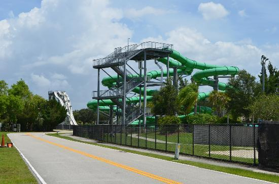 Cape Coral, Флорида: One of the big slides.