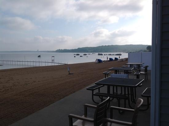 Sugar Beach Resort Hotel: looking to right from room 128