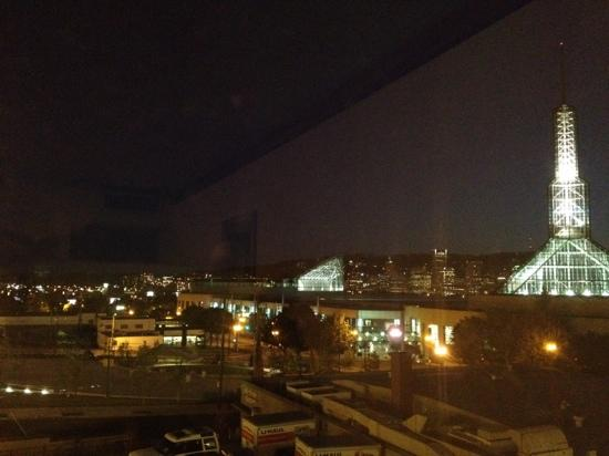 Inn at the Convention Center: view of Portland night sky from room 301.