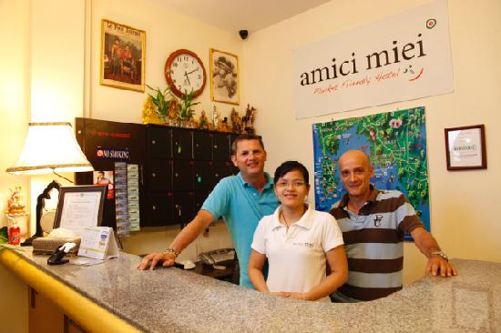 Amici Miei Hotel: Marco, Franco and our angel Ei