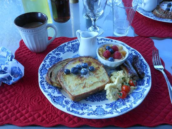 Camille's Haus: one of Camille's fabulous breakfasts
