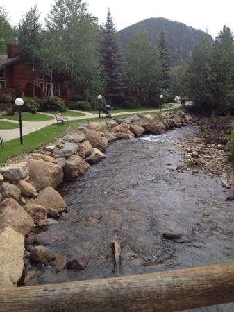 Estes Park Condos : From the bridge outside our door!