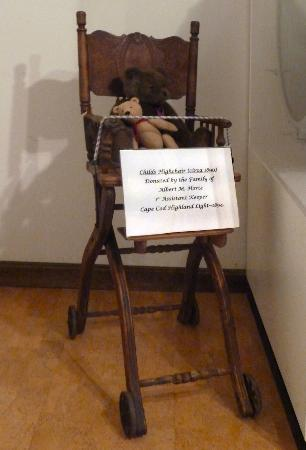 Highland Light: A highchair donated  to the 1st assistant  keeper  in 1894
