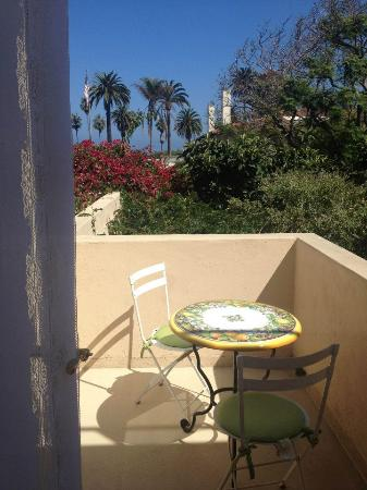 The Bed and Breakfast Inn at La Jolla: The private patio from the Peacock Salon