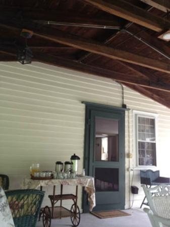 Jonathan Foote 1778 House: beautiful porch where breakfast is served