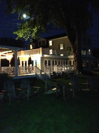 The Breakwater Inn and Spa: view from the back yard looking at the main building