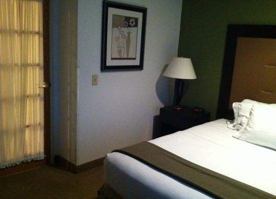 Riverwoods, IL: View from chair in bedroom, notice the bedroom door into living room on the left.