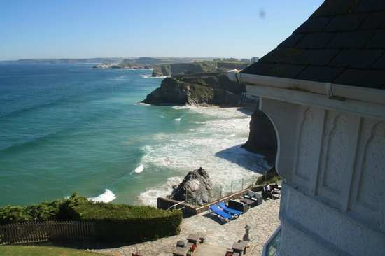 Trebarwith Hotel: View from bedroom 29