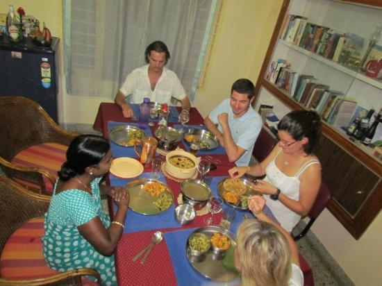 Mysore Bed and Breakfast: one of Manjula's veggie meals